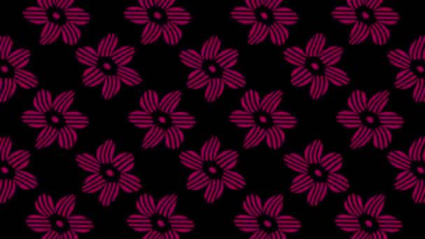 abstrakte Animation in Schwarz-Weiß auf minimalem Hintergrund mit farbigem Welleneffekt, der in Größe, Winkel und Intensität variiert, im 16: 9-Videoformat