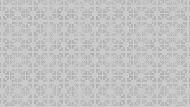 Grafická animace v černobílé barvě na minimálním pozadí, které se liší velikostí, úhlem a intenzitou, na pozadí s hypnotickým, psychedelickým a stroboskopickým efektem, ve formátu 16: 9 video.