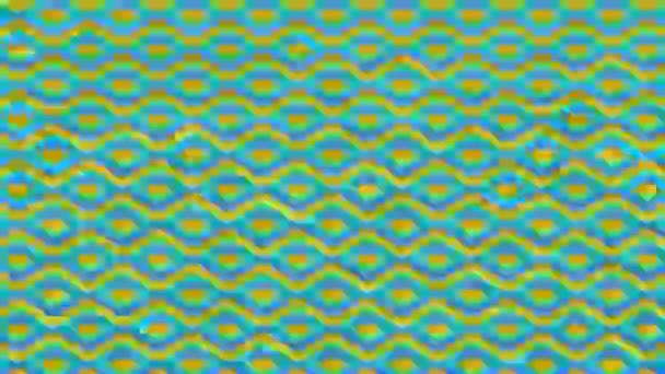 Színes grafikus minta kaleidoszkópos animációval, pszichedelikus, hipnotikus és sztroboszkópos háttérrel, 16: 9 videó formátumban