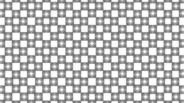 Graphic pattern in black and white with stroboscopic and hypnotic effect, while increasing in size and then reducing it.