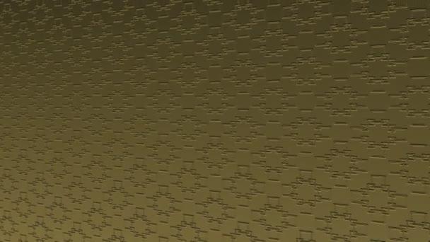 Arany művészeti minta a dombormű minimális fekete háttér, megdöntött vízszintesen kezdetben balra, majd mozog jobbra, álló színes formák, 4k 16: 9 videó formátumban.
