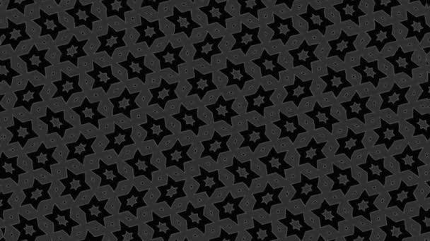 abstrakte Schwarz-Weiß-Animation auf minimalem Hintergrund mit Welleneffekt, der bei abstrakter Textur in Größe, Winkel und Intensität variiert, im 16: 9-Videoformat