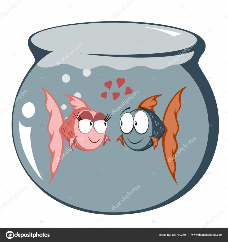 Engra ado peixe casal apaixonado vetores de stock for I love the fishes