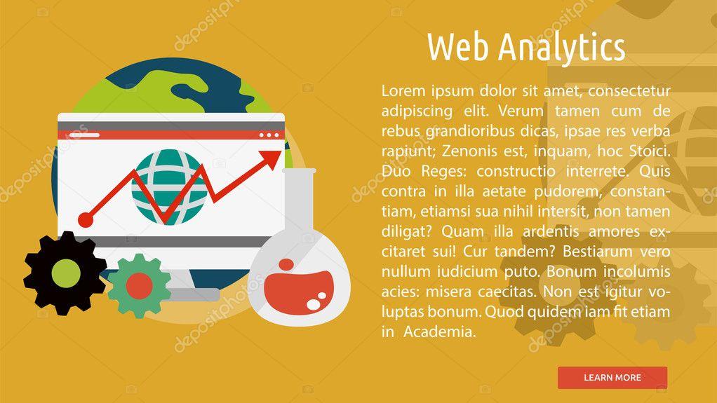 web analytics conceitual banner vetores de stock graphiqa 127823330