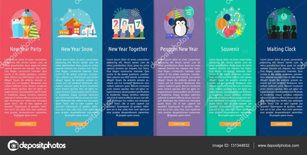 83e583363c14d Celebration Happy New Year Vertical Banner Concept– stock illustration