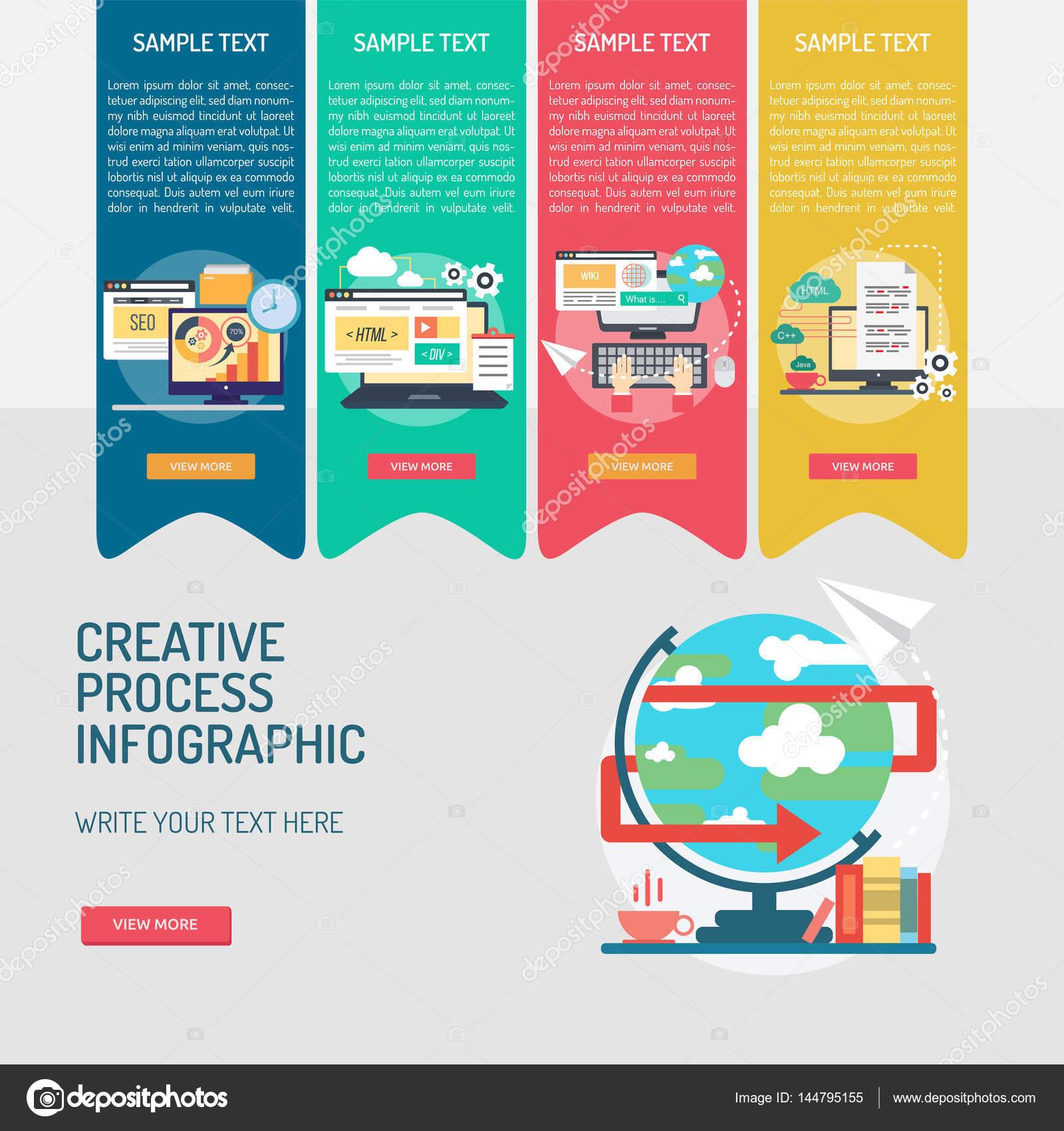 Infographic Creative Process — Stock Vector © Graphiqa ...