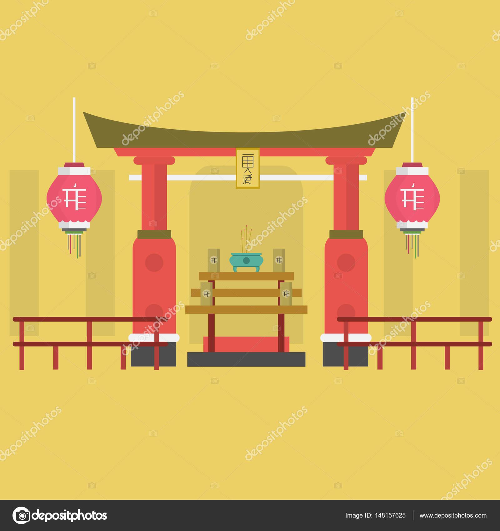 神社バック グラウンド概念 — ストックベクター © graphiqa #148157625