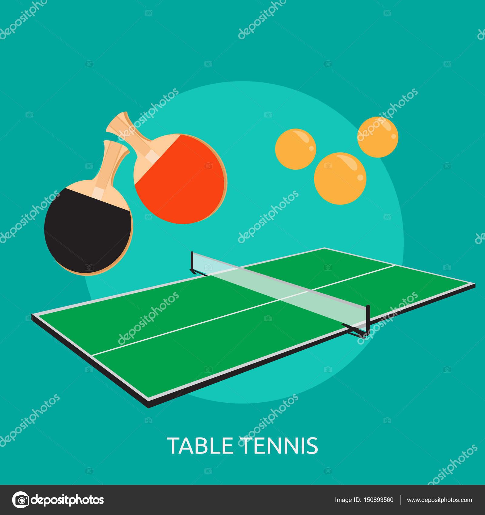 Tenis de mesa de Diseño Conceptual — Archivo Imágenes Vectoriales ...