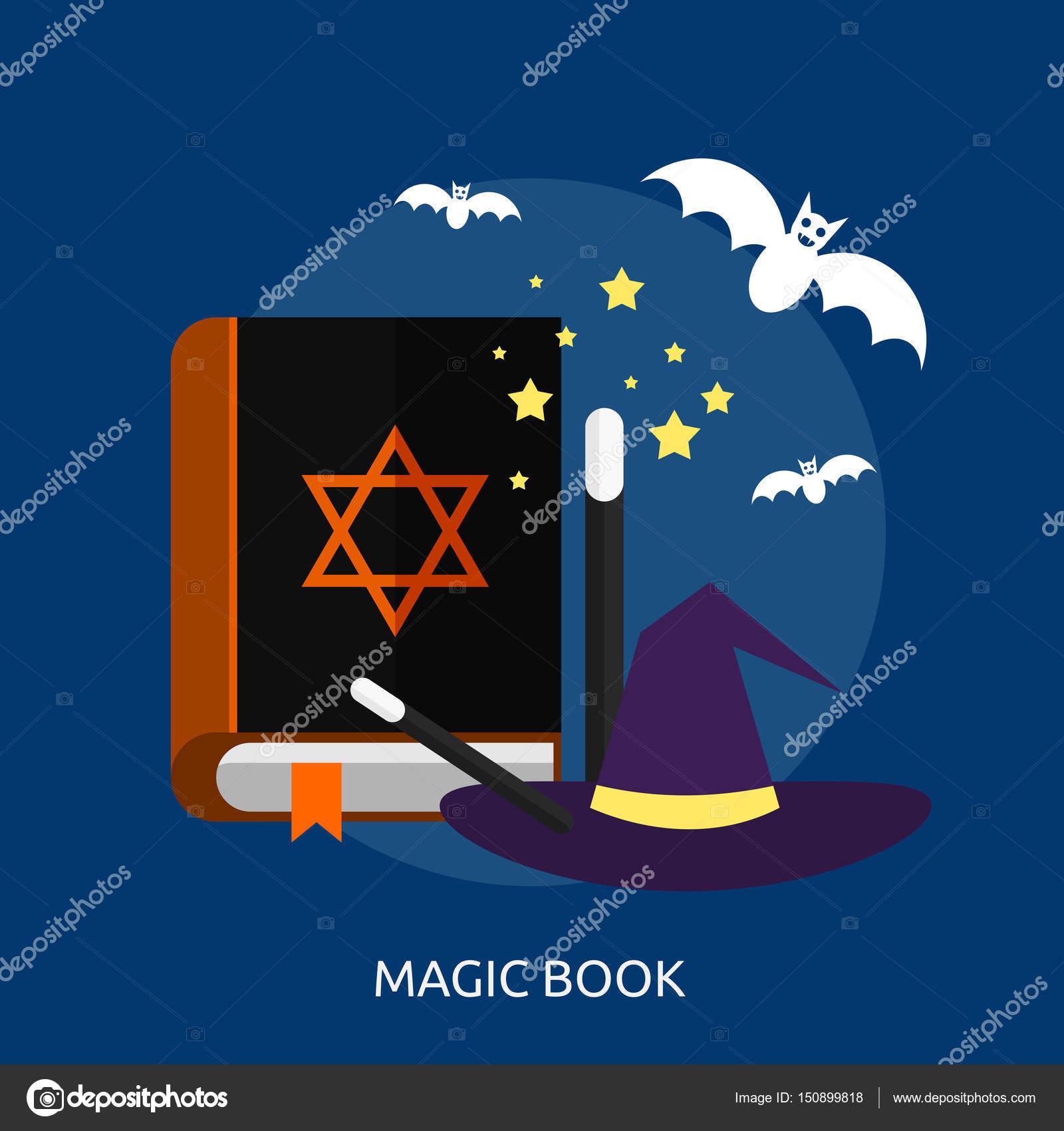 Livre De Magie Design Conceptuel Image Vectorielle