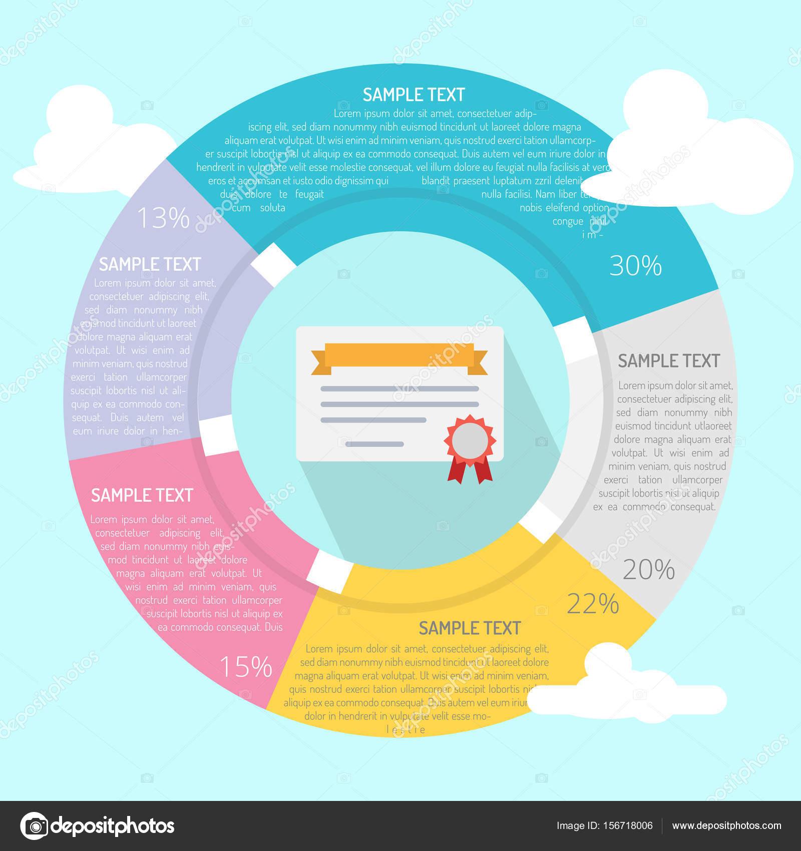 Zertifikat-Infografik-Konzept — Stockvektor © Graphiqa #156718006