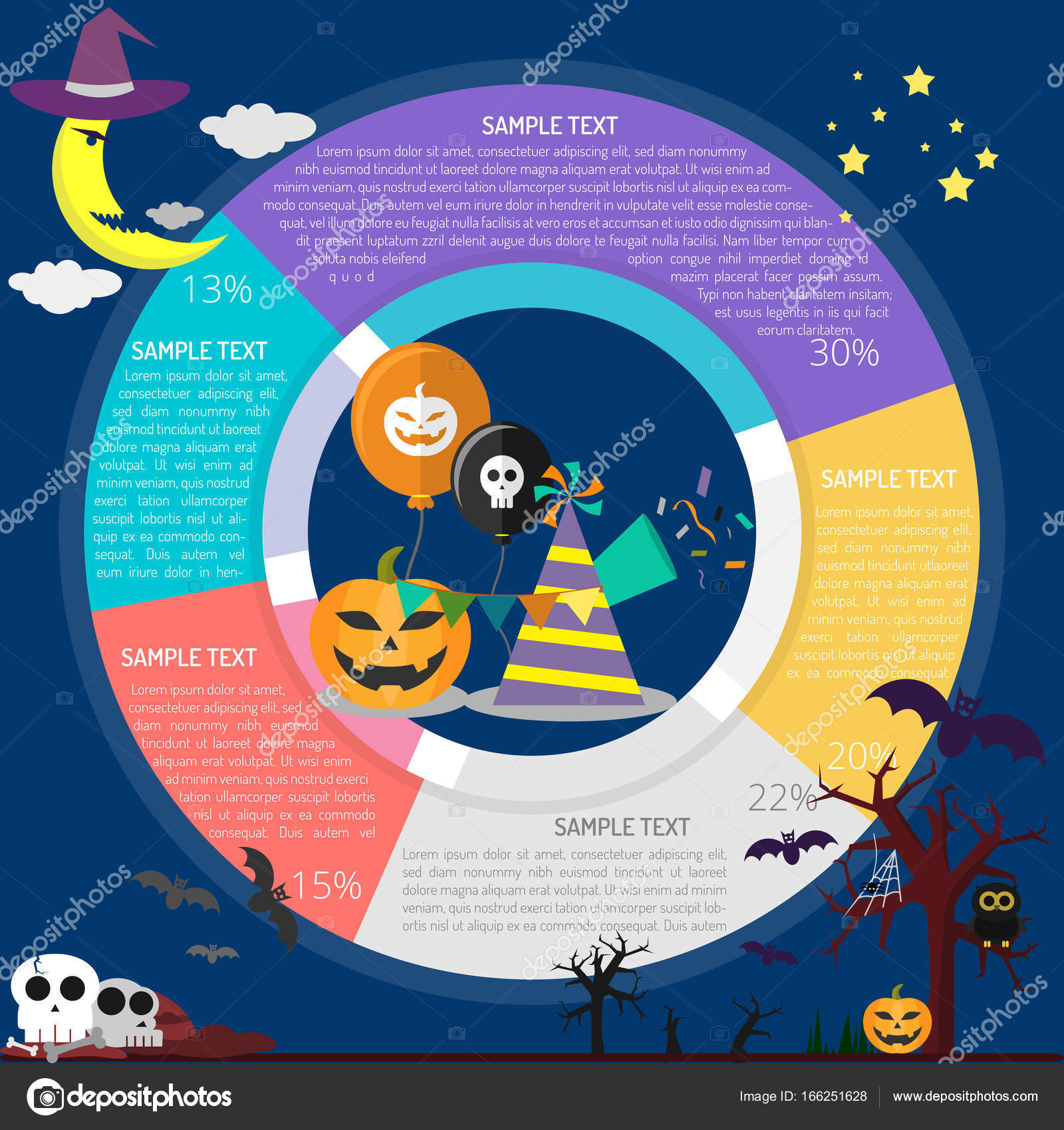 Halloween Event Infographic Stock Vector Graphiqa 166251628 Origami Diagram