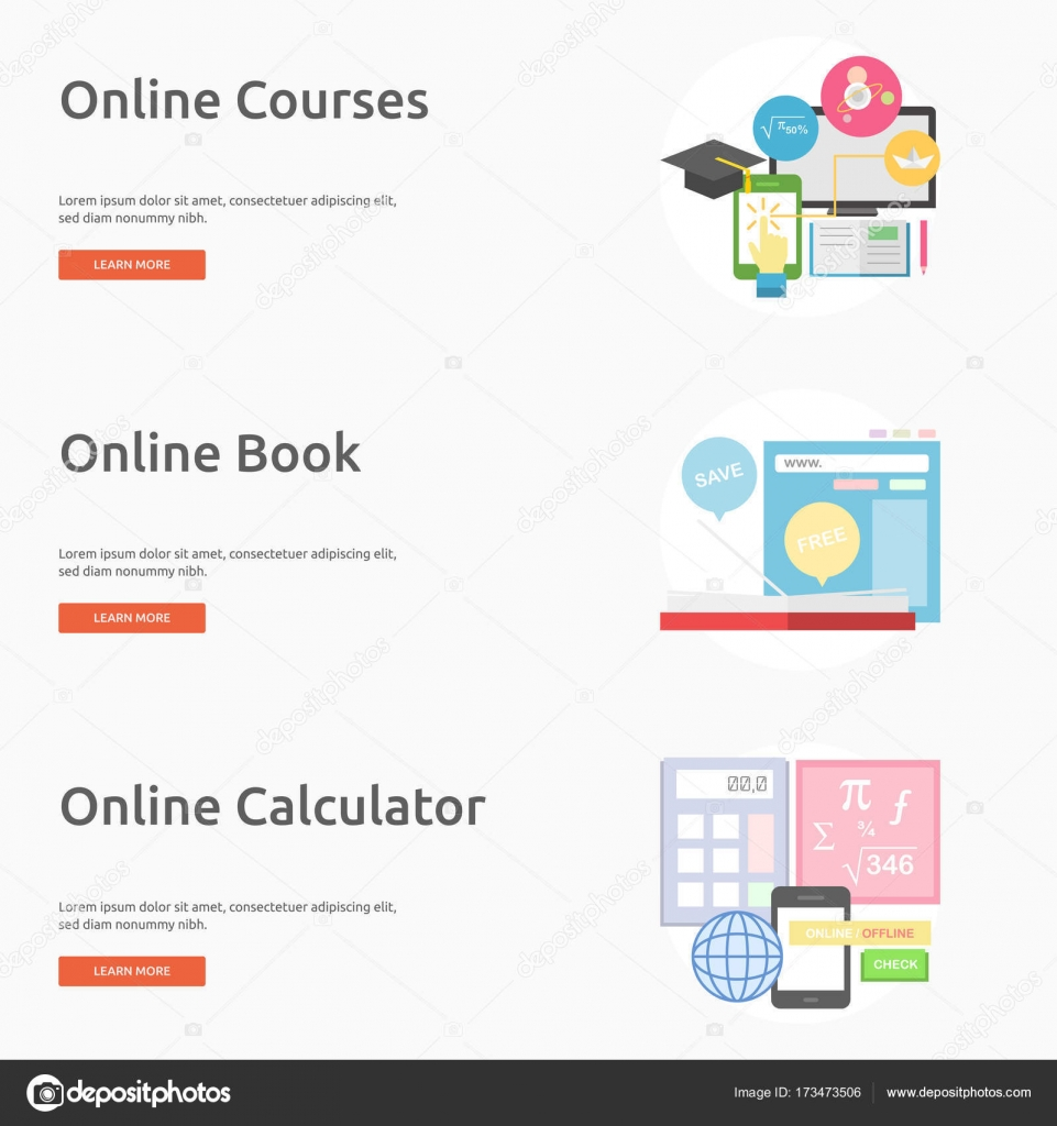 e learning and online education banner design stock vector