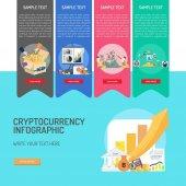 Fotografie Kryptowährung Konzeption Infografik