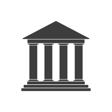 Vector illustration of simple bank icon. Isolated.