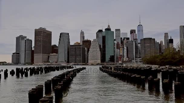 NEW YORK CITY, USA - 04, 2017: New York Across the Hudson River. View from Brooklyn, NewYork.