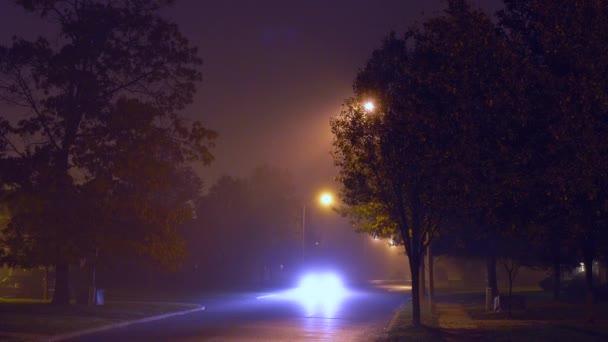 night urban landscape with fog
