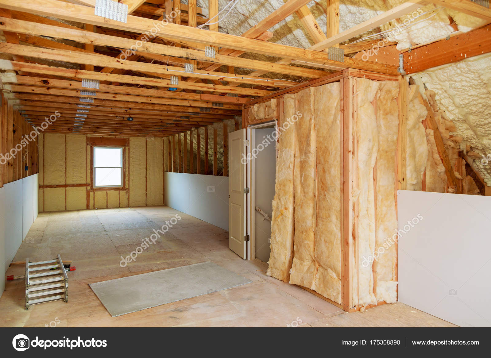 Thermal And Hidro Insulation Inside Wall Insulation In Wooden House,  Building Under Construction U2014 Photo By Photovs