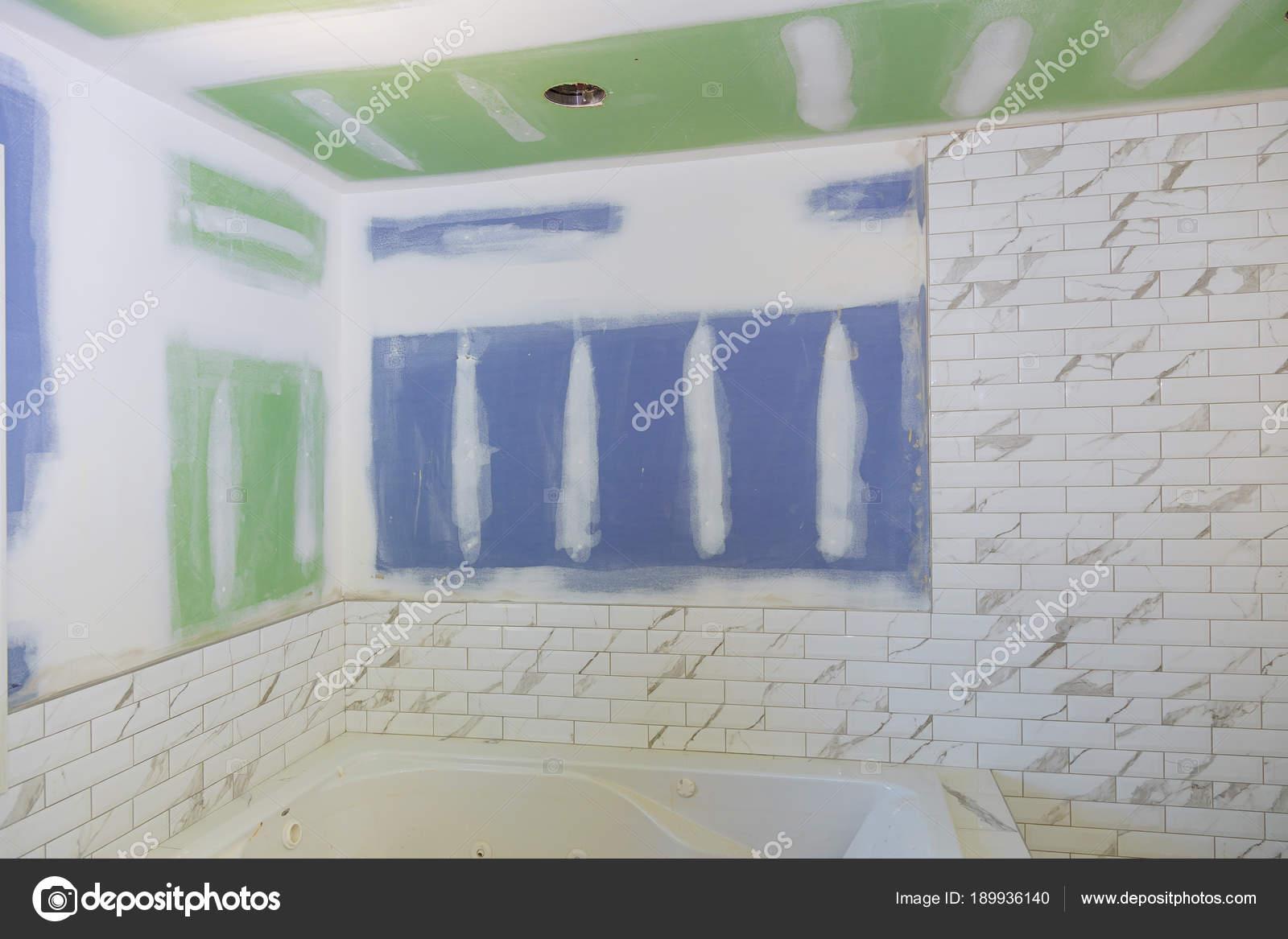 Nowy Pod Budowę łazienki Wnętrza Z Płyt Kartonowo Gipsowych