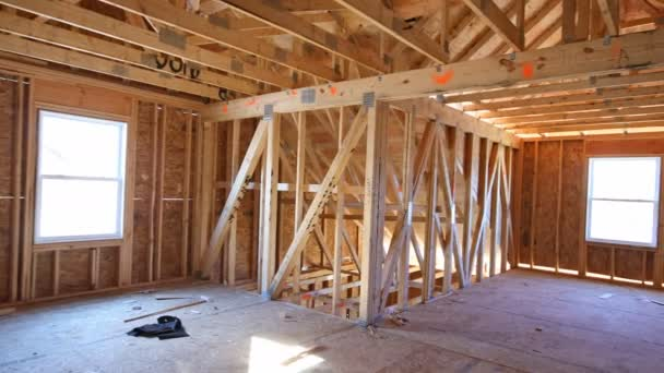 Rahmen neues Haus Wohn-Innenausbau Wand der Dachgeschosswohnung