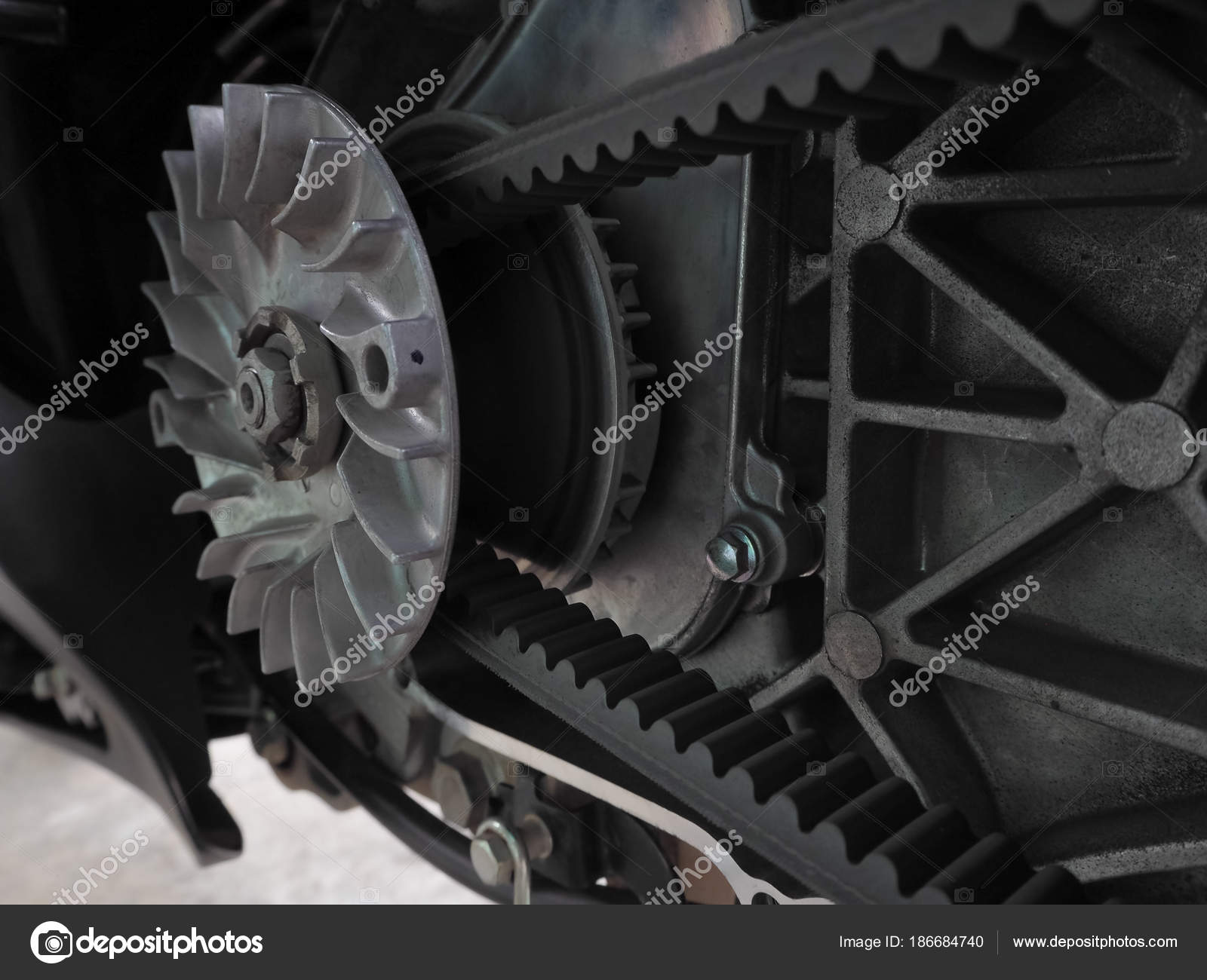 Automatic transmission of motorcycles  — Stock Photo