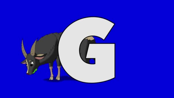 Letter G  and  Goat  (background)