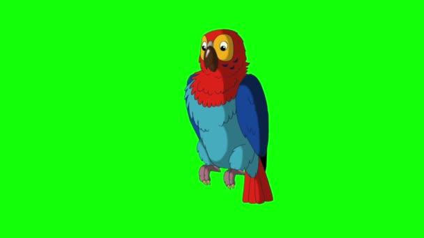Színes papagáj beszél. Klasszikus kézzel készített animáció