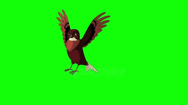 Brauner Vogel flog und flog davon