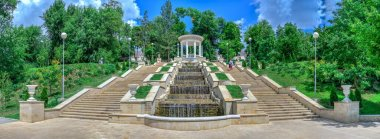 Cascading stairs in Chisinau, Moldova