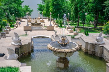 Cascading fountains in Chisinau, Moldova
