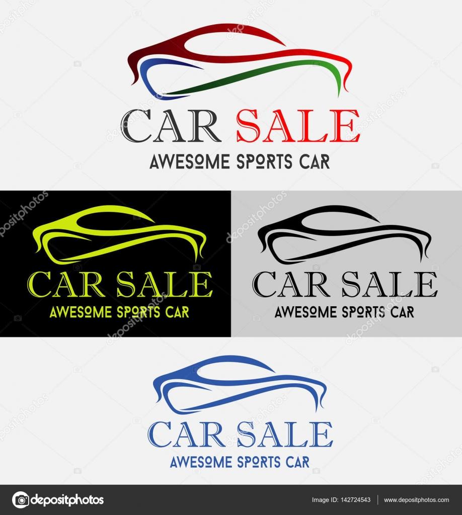 Plantilla de Vector de diseño de Logo de coche venta — Vector de ...