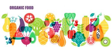 Colorful pattern of vegetables