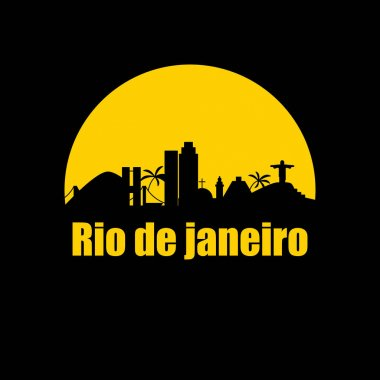 Buildings and landmarks of the Brazilian city of Rio de Janeiro. Vector illustration clip art vector