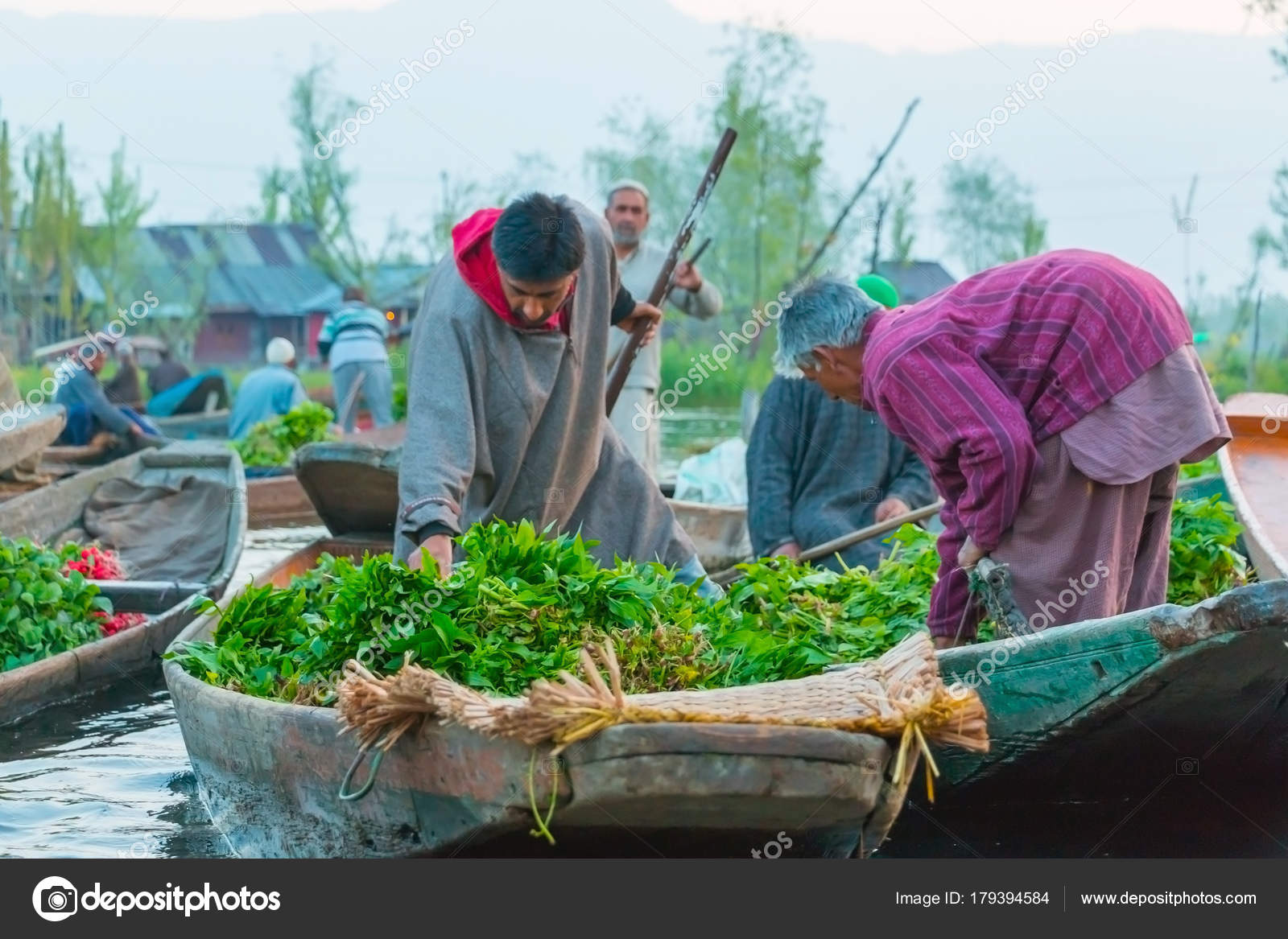 the latest efdeb 659b7 Lac Dal flottant marché à Srinagar, Cachemire. — Photo ...