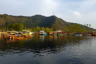 Scene of Dal lake in Srinagar, capital of Jammu and Kashmir, Ind