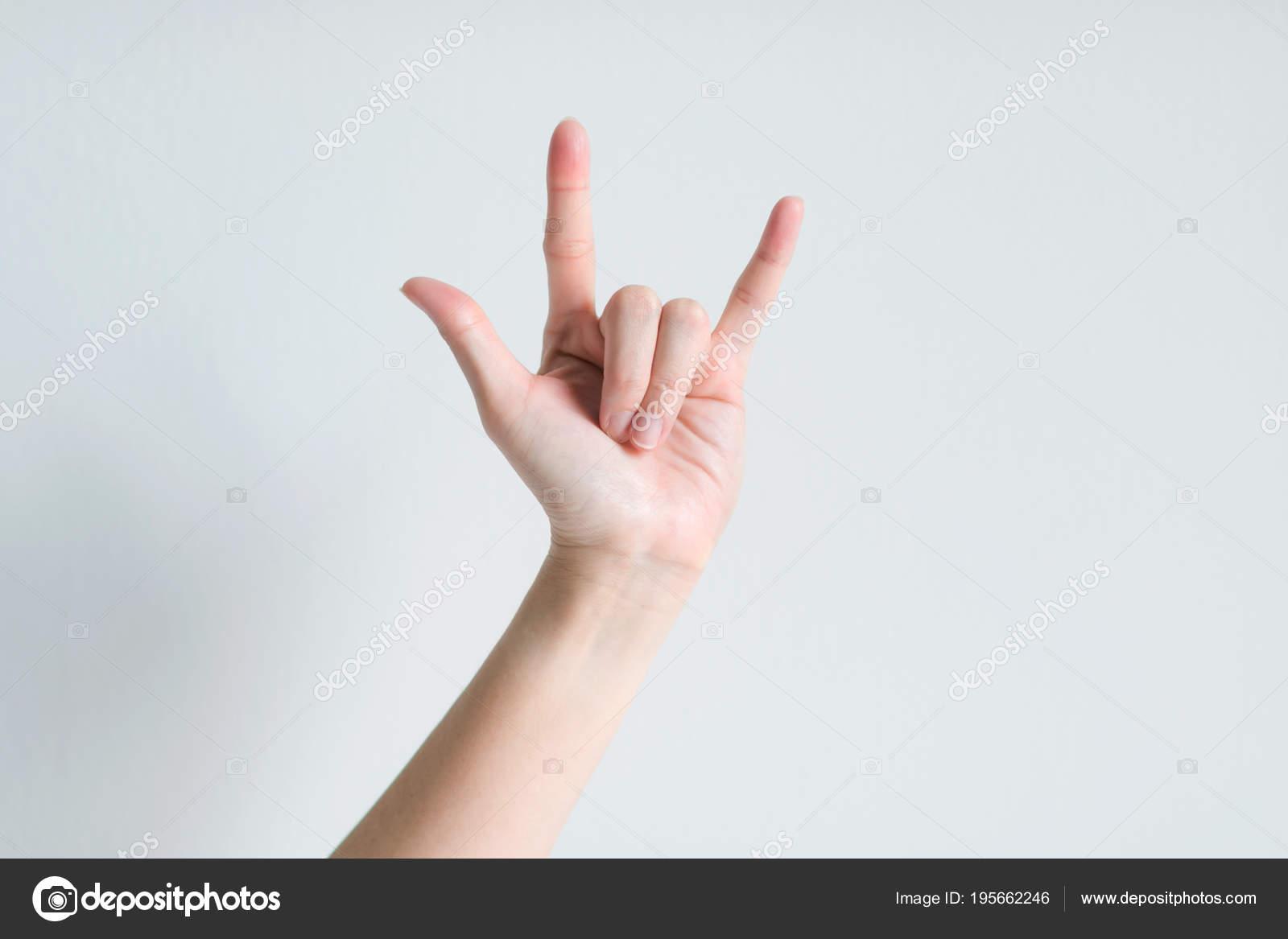 Señales de mano lo que significa que te amo — Foto de Stock 8cebd857352ba