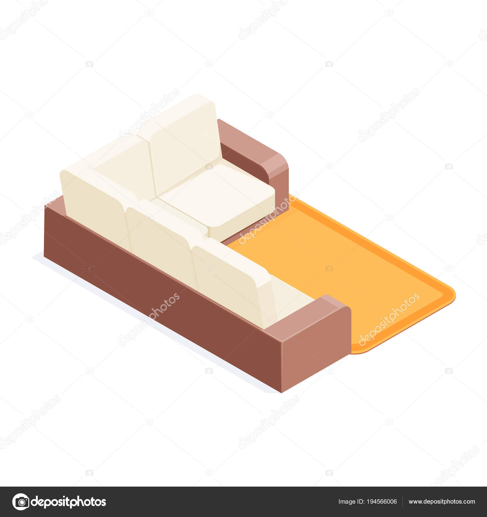 Incredible Isometric Sofa Isometric Sofa Isolated On White Background Ocoug Best Dining Table And Chair Ideas Images Ocougorg