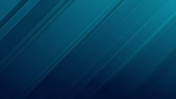 abstraktní modré diagonální pruhy pohyb pozadí video animace ultra hd