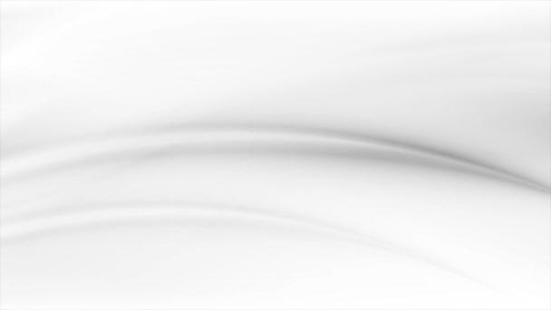 abstraktní šedé a bílé hladké rozmazané vlny pohyb design bezešvé smyčka video animace ultra hd