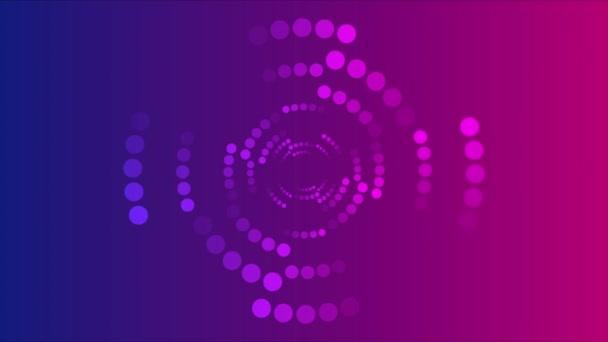 abstraktní neon modrá a fialová půltón kruhy pohyb pozadí video animace ultra hd