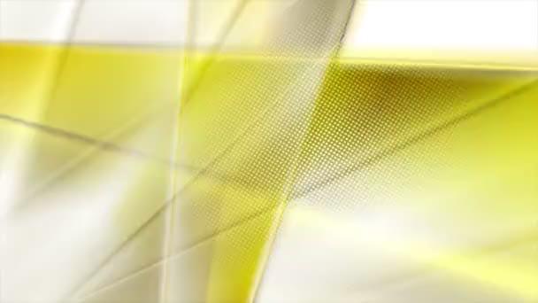 žluté hladké pruhy abstraktní pohyb design bezešvé smyčka video animace ultra hd