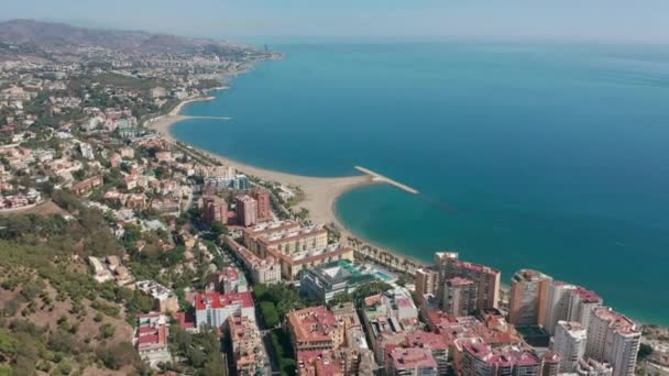 Aerial View. Malaga, Andalusia, Spain. Malaga city with port and bullring.