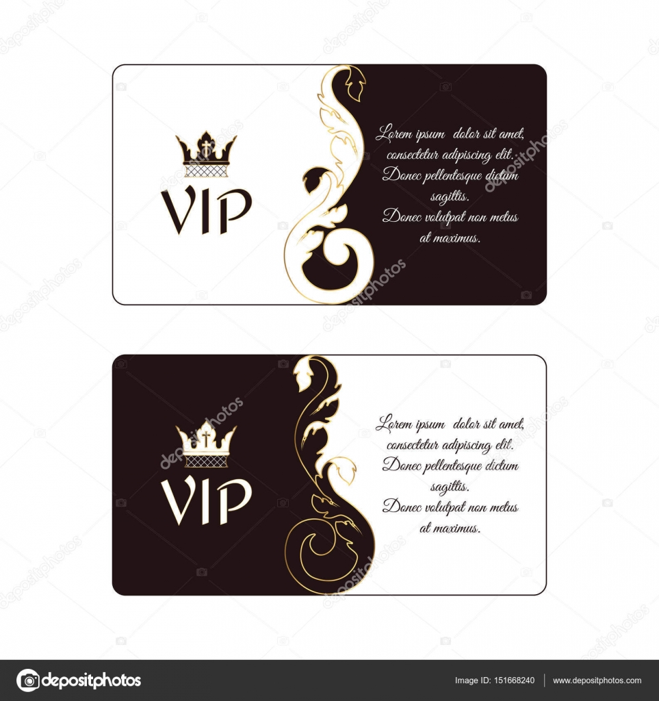 Set of two elegant horizontal discount cards in Victorian style ...