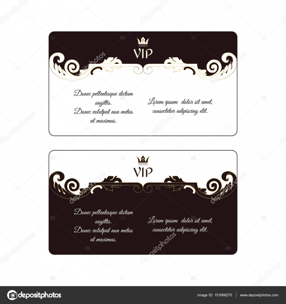 set of two elegant horizontal discount cards in victorian style