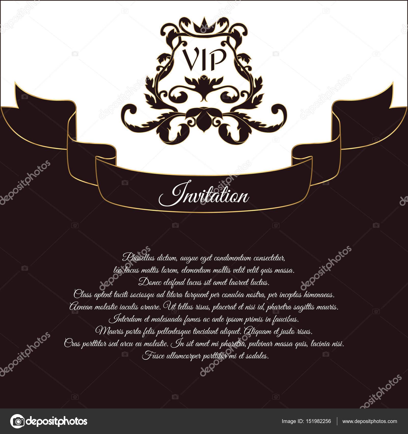 Eleganckie Pocztówka Zaproszenia Vip I życzenia ślubne W Stylu