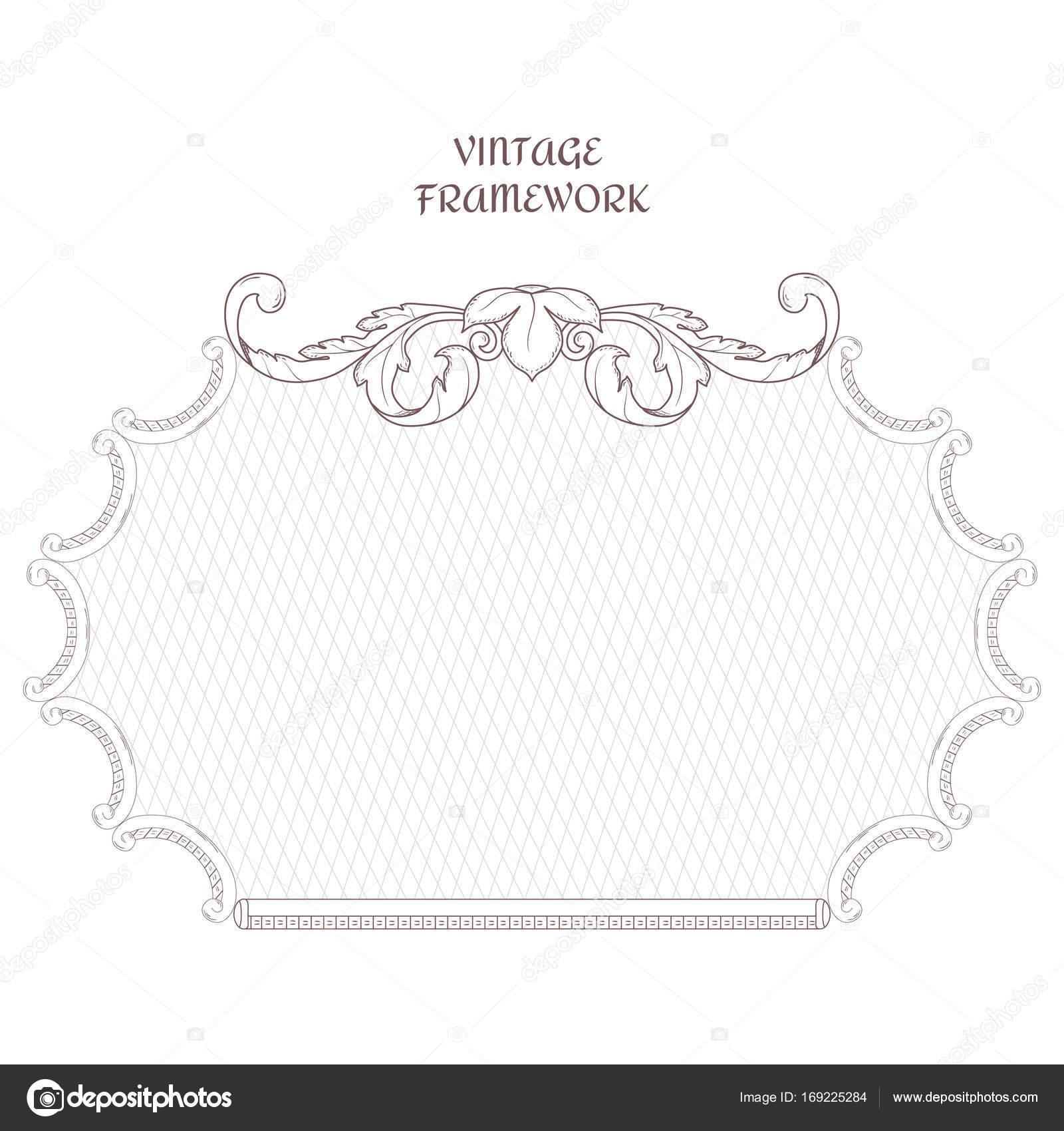 Viktorianische horizontalen Rahmen der kalligraphischen Design ...