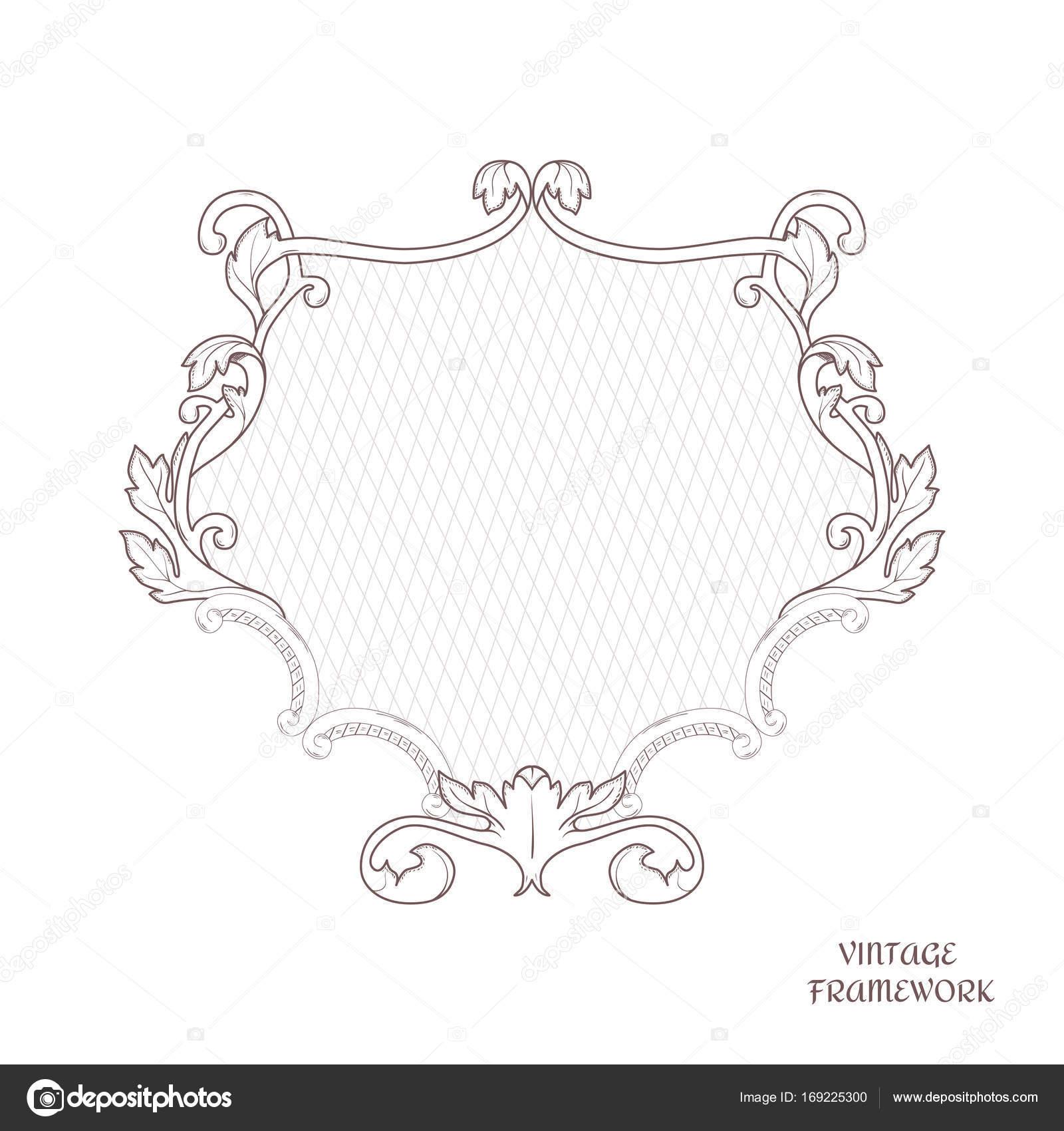 Viktorianische durchbrochene Rahmen der kalligraphischen Design ...