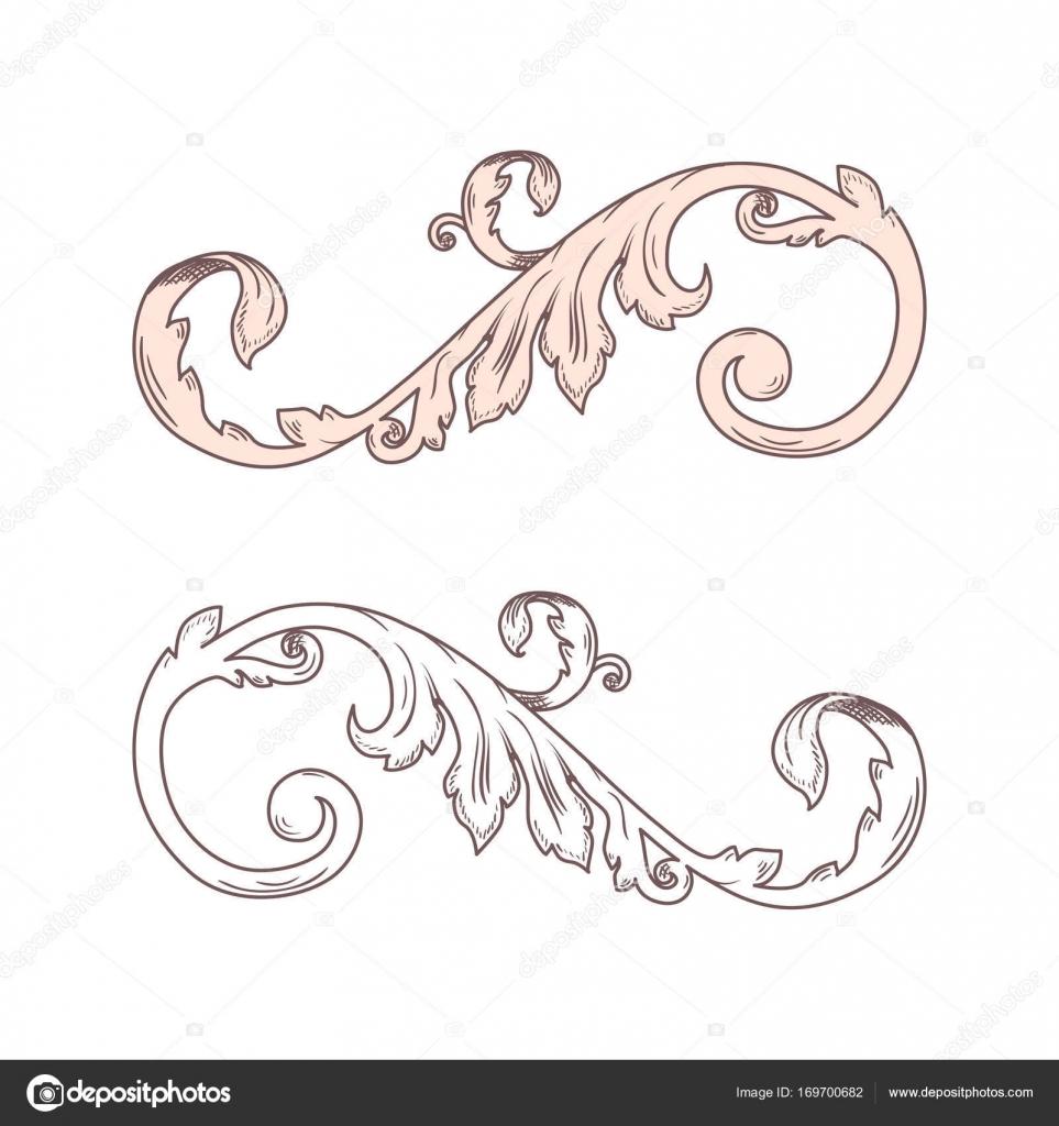 Vintage Victorian Barock Rahmen Grenze Monogramm Floral Ornament