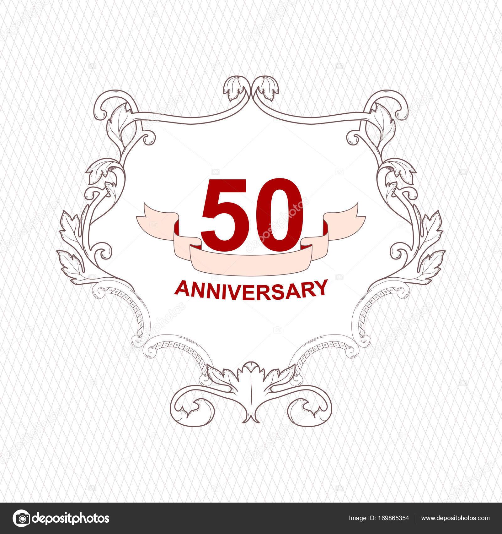 Marco decorativo antiguo vintage para celebrar el 50 aniversario ...