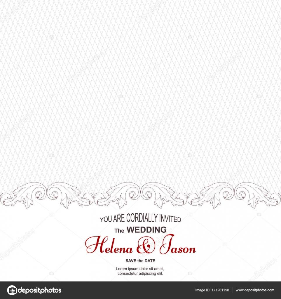 Elegante Vintage Karte Fur Die Einladung Zur Hochzeit Das Ornament