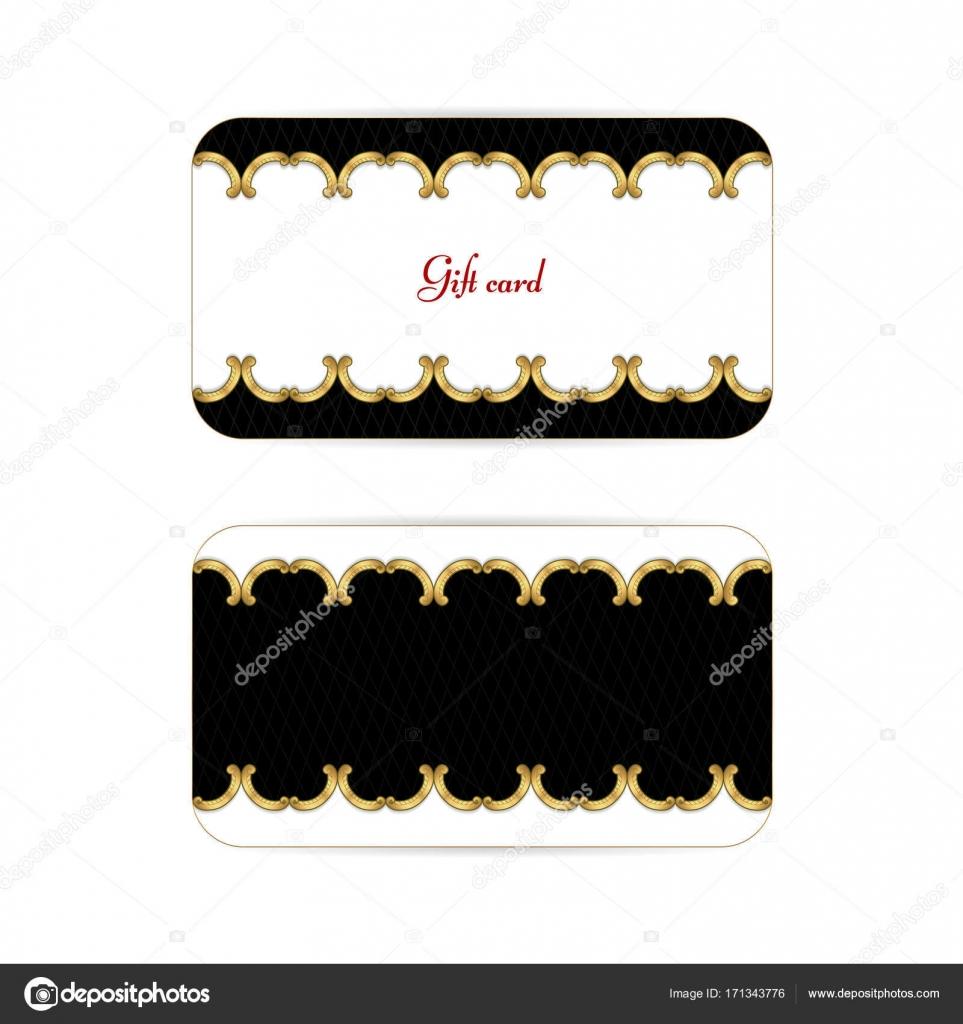 Elegantes Vintage horizontale schwarz mit gold Geschenkkarte ...